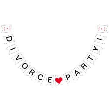 Divorce Party Free At Last Bunting Flags