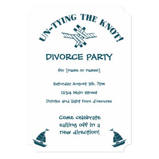 Divorce Party funny Untying the Knot Invitation