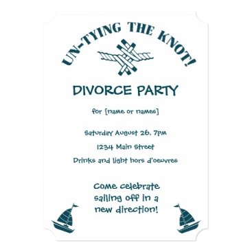 divorce Divorce Party funny Untying the Knot Invitation