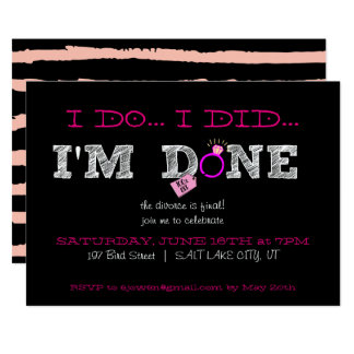 Divorce Party Invitations Announcements Zazzle
