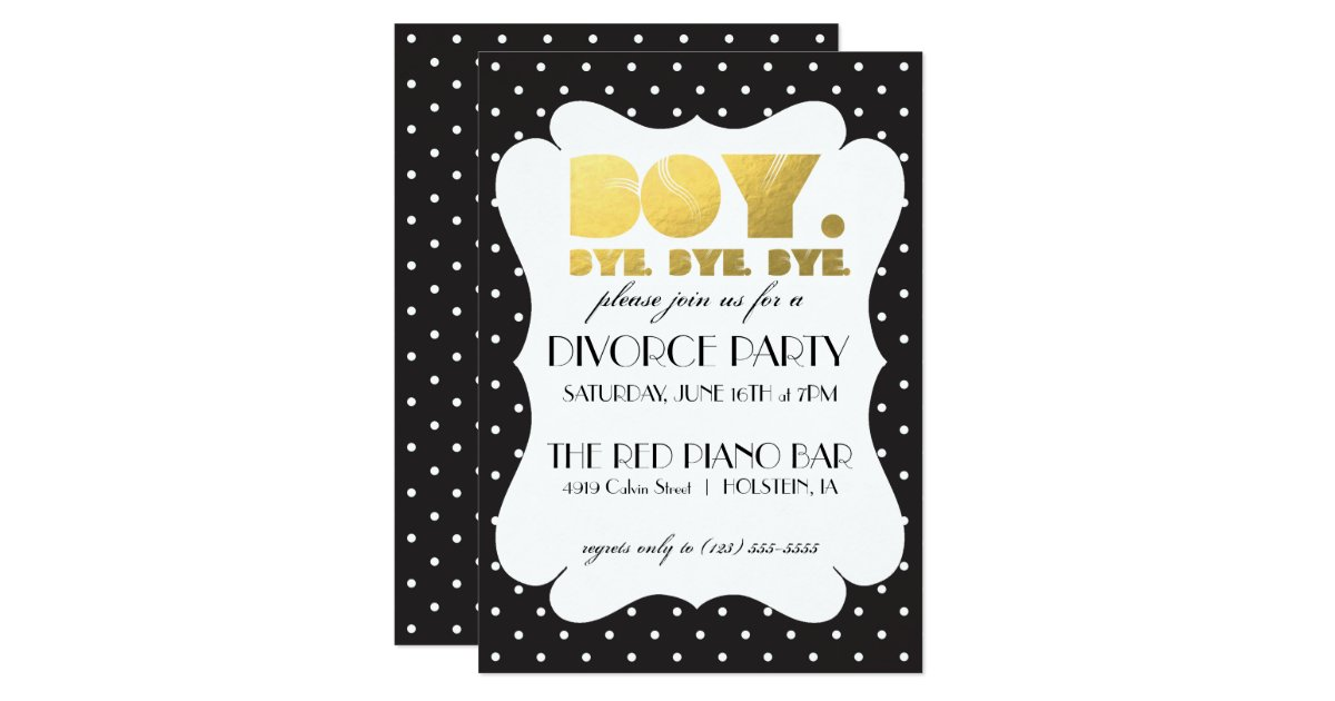 Divorce Party Invitation - Boy Bye | Zazzle.com