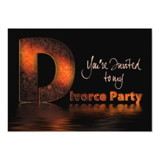 Divorce Party Invitation (The Big D Word)
