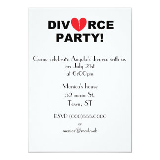 """Divorce Party"" Invitations"