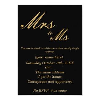 Divorce Party Invite