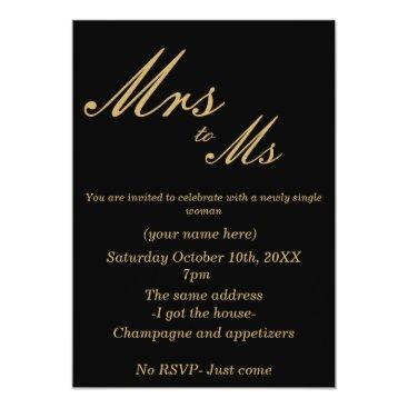 divorce Divorce Party Invite