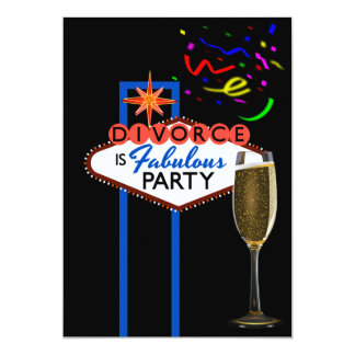 Divorce Party Las Vegas themed personalized Card