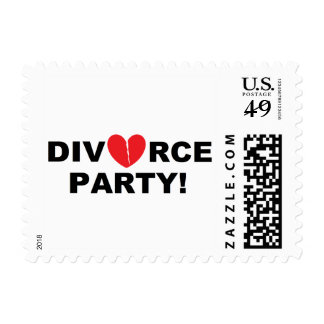"""Divorce Party"" Postage Stamps"