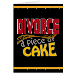 Divorce - Piece of Cake Card