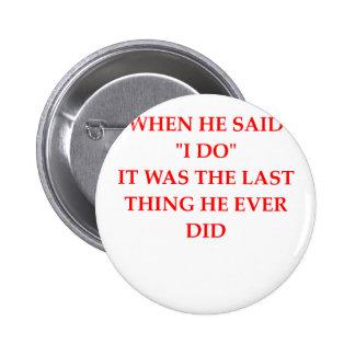 divorce pinback button