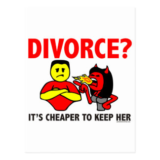 DIVORCE POST CARDS