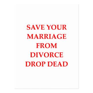 DIVORCE POSTCARD