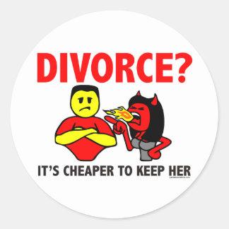 DIVORCE ROUND STICKERS