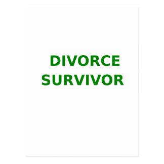 Divorce Survivor - 2 - Green Postcard