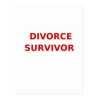 Divorce Survivor - 2 - Red Postcard