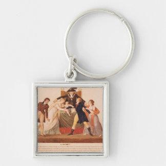 Divorce. The Reconciliation Silver-Colored Square Keychain