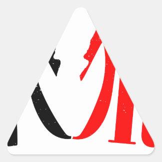 Divorce Triangle Sticker