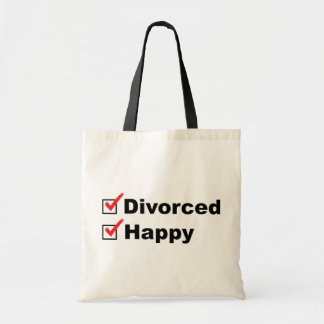 Divorced And Happy Tote Bag