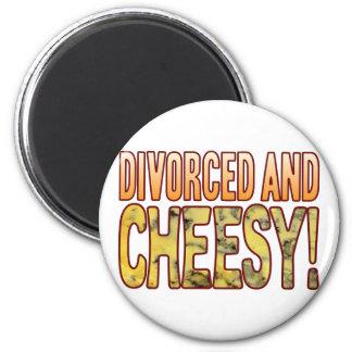 Divorced Blue Cheesy 2 Inch Round Magnet