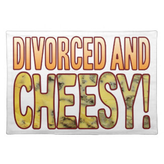 Divorced Blue Cheesy Cloth Placemat