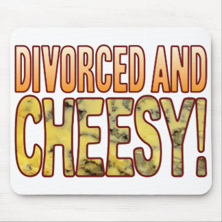 Divorced Blue Cheesy Mouse Pad