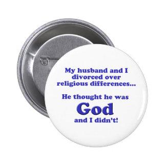 Divorced 2 Inch Round Button