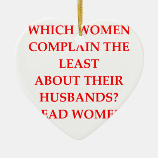 DIVORCED CERAMIC ORNAMENT