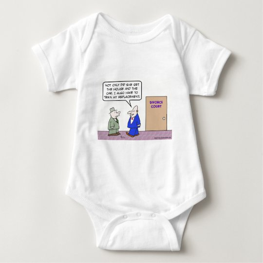 Divorced guy has to train his replacement baby bodysuit