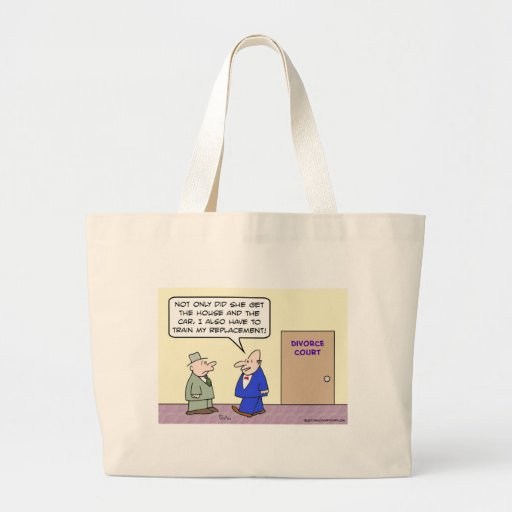 Divorced guy has to train his replacement jumbo tote bag