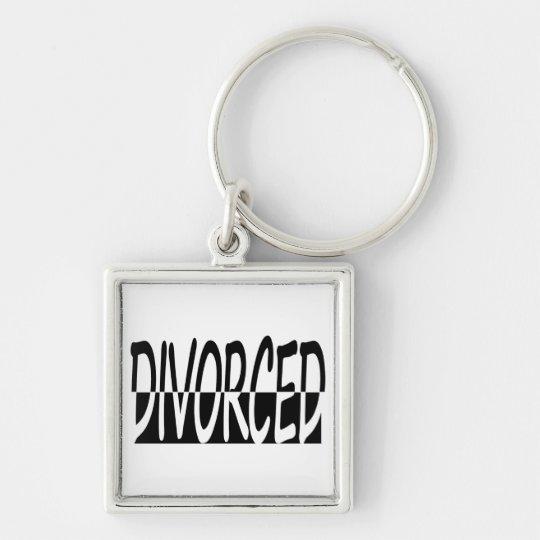 Divorced Half And Half, Black And White Keychain