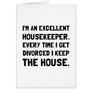 Divorced Housekeeper Card