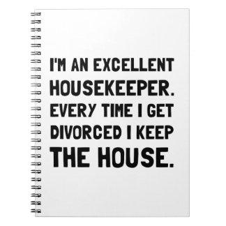Divorced Housekeeper Notebook