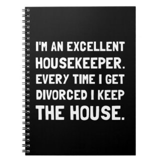 Divorced Housekeeper Spiral Notebook