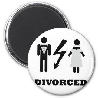 divorced icon 2 inch round magnet