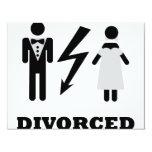 divorced icon 4.25x5.5 paper invitation card