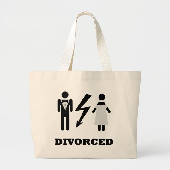 divorced icon large tote bag