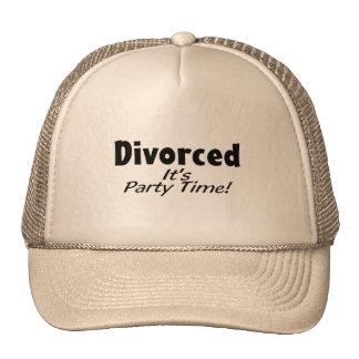 Divorced It's Party Time Trucker Hat