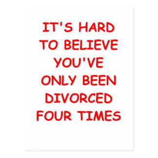 DIVORCED POSTCARD