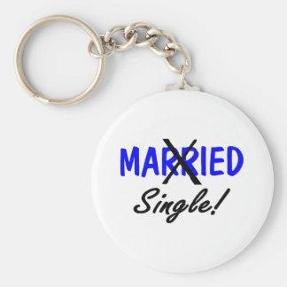 Divorced Single (Blue) Keychain