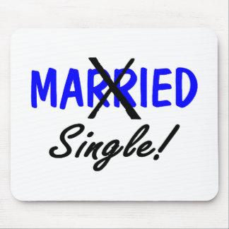 Divorced Single Blue Mouse Pad