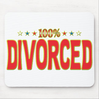 Divorced Star Tag Mouse Pad