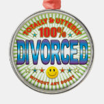 Divorced Totally Round Metal Christmas Ornament