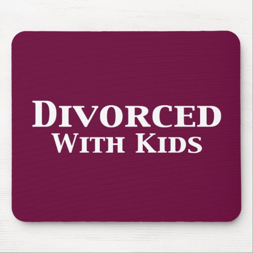 Divorced With Kids Gifts Mouse Mats