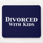 Divorciado con los regalos de los niños alfombrilla de ratón