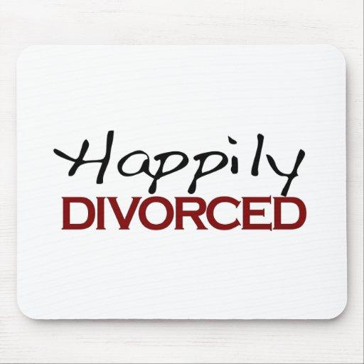 Divorciado feliz alfombrilla de ratones