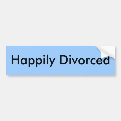 Divorciado feliz etiqueta de parachoque