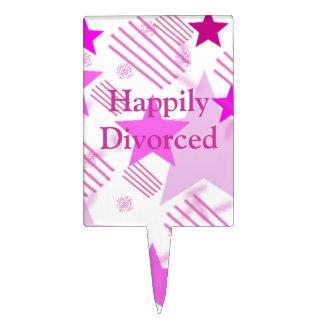 Divorciado feliz decoración para tarta