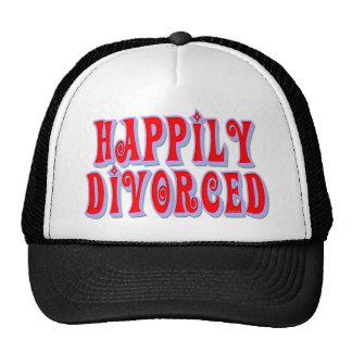 Divorciado feliz gorros bordados