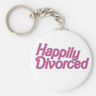 Divorciado feliz llavero redondo tipo pin