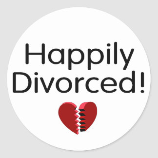 Divorciado feliz pegatina redonda