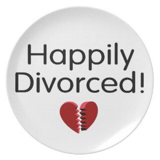 Divorciado feliz platos para fiestas